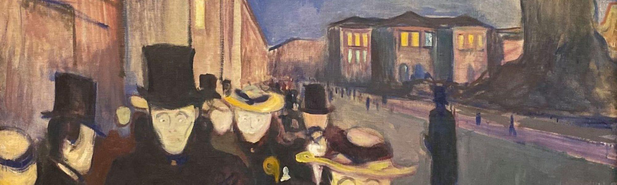 Evening on Karl Johan Street -1892 - Edvard Munch